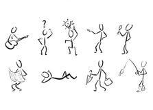 Stickmans als pictogrammen Royalty-vrije Stock Foto