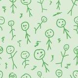 绿色stickmen 图库摄影