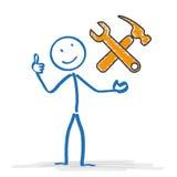 Stickmen Repair Service Stock Image