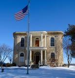 Stickney hus i snö Royaltyfria Bilder