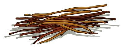 sticks royaltyfri illustrationer