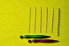 Sticks and ballpoint pens Stock Photography