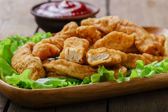 Sticks breaded chicken Royalty Free Stock Images
