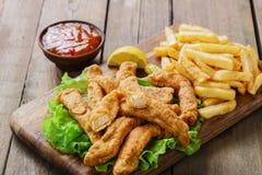 Sticks breaded chicken Royalty Free Stock Image
