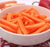 Sticks of carrots Stock Photos