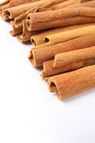Sticks of cassia. Sticks of cinnamon with  white background ,cinnamon is commonly used traditional chinese medicine, but also for the food spice or cooking Royalty Free Stock Image