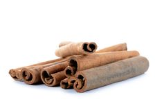 Sticks cinnamon isolated on white background Stock Image