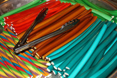 Sticks of colorful candy Stock Image