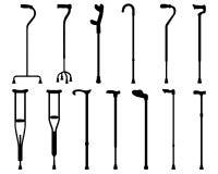 Sticks and crutches Stock Photos