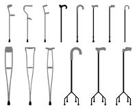 Sticks and crutches Royalty Free Stock Photo