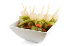 Sticks with exotic vegetables Stock Photo