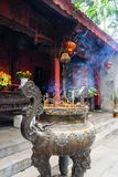 Vietnam, aromatic incense at the entrance to the temple. stock photos