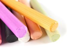 Sticks of pastel colored chalk Royalty Free Stock Images