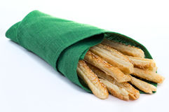 Sticks of puff pastry Royalty Free Stock Images