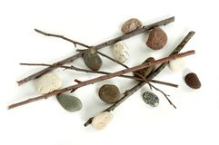 Sticks and Stones Stock Images