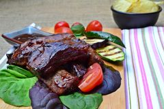 Sticky Barbeque ribs Royalty Free Stock Photos
