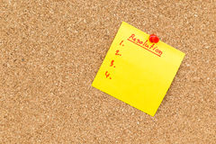 Sticky blank note resolutions for new year stock images