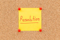Sticky blank note resolutions for new year Stock Photo