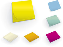 Sticky block (vector). Sticky blocks in different perspectives (vector in Global colors CMYK Royalty Free Stock Photography