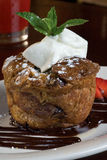 Sticky Bread Pudding Cake Stock Photo
