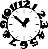 Sticky Clocks Royalty Free Stock Photos
