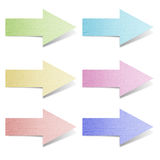 Sticky collection of mulberry paper arrows Stock Images