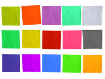 Sticky Colored Paper Template Royalty Free Stock Photos