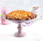 Sticky date cake with coconut topping Stock Images