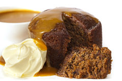 Sticky Date Pudding Royalty Free Stock Photo