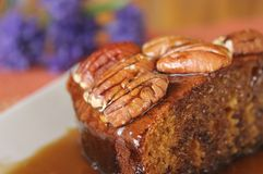 Sticky Date Pudding with Butterscotch Sauce 3 Royalty Free Stock Images