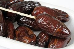 Sticky dates in white box. Royalty Free Stock Photos