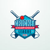 Sticky design for Cricket Championship League 2015. Stock Images