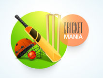 Sticky design for Cricket Mania. Royalty Free Stock Photos