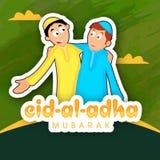 Sticky design for Eid-Al-Adha celebration. Royalty Free Stock Photo
