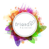 Sticky design for Friendship Day celebration. Sticky design with stylish text Friends Forever on colorful abstract background for Happy Friendship Day Stock Photos