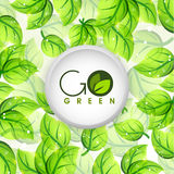 Sticky design for Go Green. Royalty Free Stock Photography