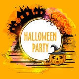 Sticky design for Happy Halloween Party. Stock Photos