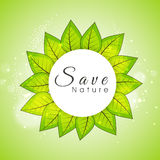 Sticky design for Save Nature. Stock Image