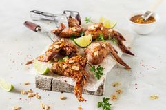 Free Sticky Grilled Chicken Wings Royalty Free Stock Photo - 111772445