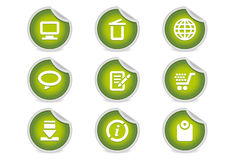 Sticky Icons - Website & Internet #2 | Green. A set of 9 vector icons (EPS), illustrator 8+ compatible Stock Photography