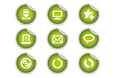 Sticky Icons - Websites & Blogs #2 | Green. A set of 9 vector icons (EPS), illustrator 8+ compatible Stock Photography