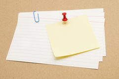 Sticky On Index Card Royalty Free Stock Photos