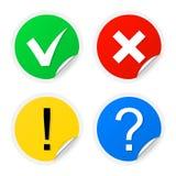 Sticky information labels Stock Photo