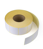 Sticky label roll Stock Photo