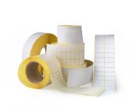 Sticky label rolls Royalty Free Stock Image