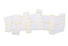 Sticky labels Stock Photo