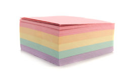 Sticky note. White with clipping path Royalty Free Stock Images