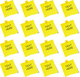 Sticky note. Stick notepad created in Adobe Illustrator Stock Image