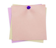 Sticky Note. Isolated on white Stock Photo