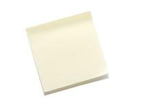 Sticky Note. A blank sticky note ready for a message stock photo